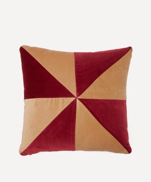 Christina Lundsteen Suki Velvet Cushion In Multicolour