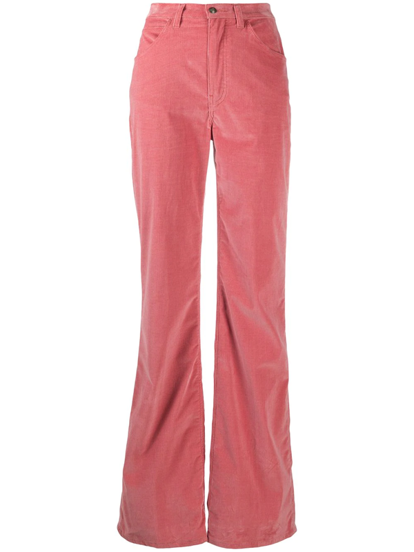 Etro Flared Corduroy Trousers In Pink