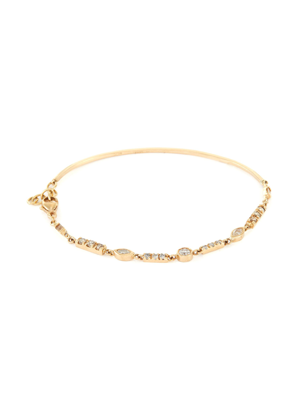 Xiao Wang 'astro' Diamond 18k Gold Bracelet In Metallic
