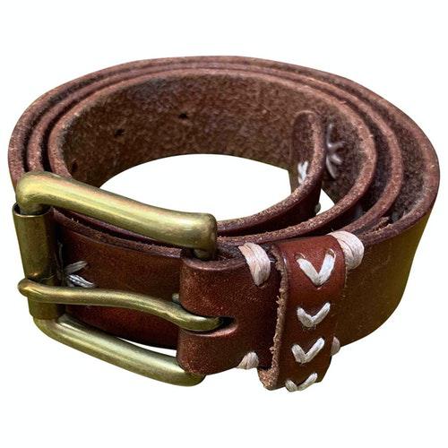 Pre-owned Comptoir Des Cotonniers Brown Leather Belt