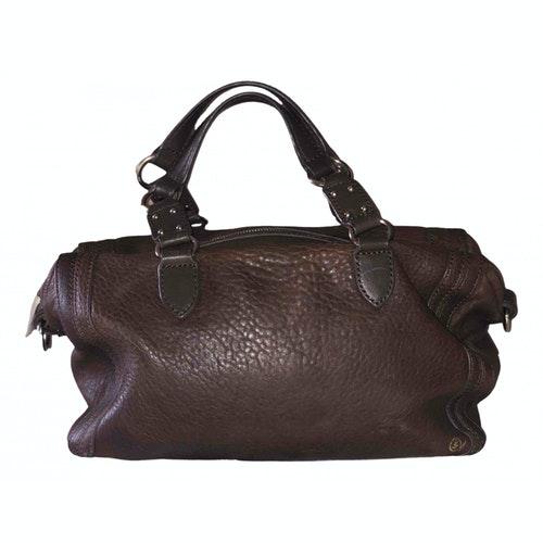 Pre-owned Alexander Mcqueen N Brown Leather Handbag