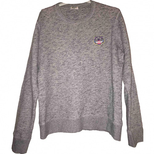 Pre-owned Kenzo Grey Cotton Knitwear & Sweatshirts