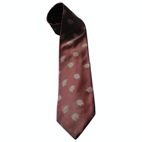 Pre-owned Burberry Pink Silk Ties