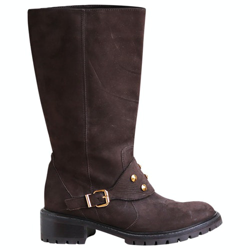 Pre-owned Fendi Brown Suede Boots