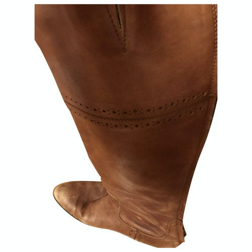 Pre-owned Benetton Brown Leather Boots