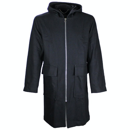 Pre-owned Sandro Navy Wool Coat