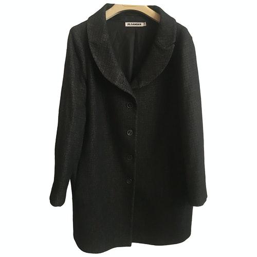 Pre-owned Jil Sander Black Wool Coat