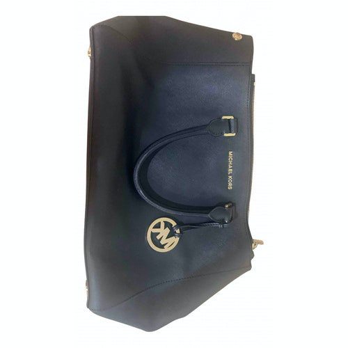 Pre-owned Michael Kors Sutton  Black Leather Handbag
