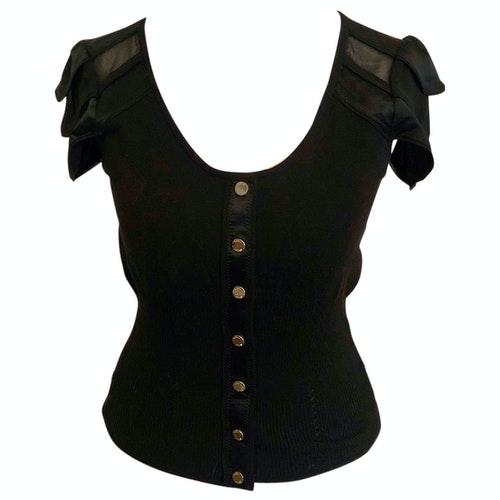 Pre-owned Karen Millen Black Cotton Knitwear
