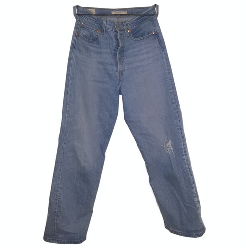 Pre-owned Levi's Blue Cotton - Elasthane Jeans
