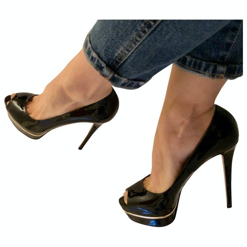Pre-owned Le Silla Black Patent Leather Heels