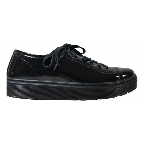 Pre-owned Dr. Martens Black Patent Leather Lace Ups