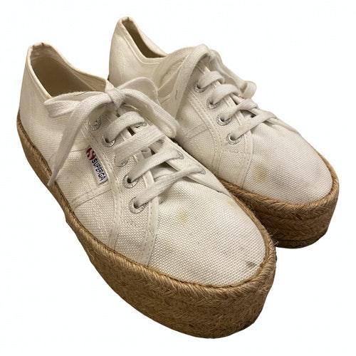Pre-owned Superga White Cloth Espadrilles