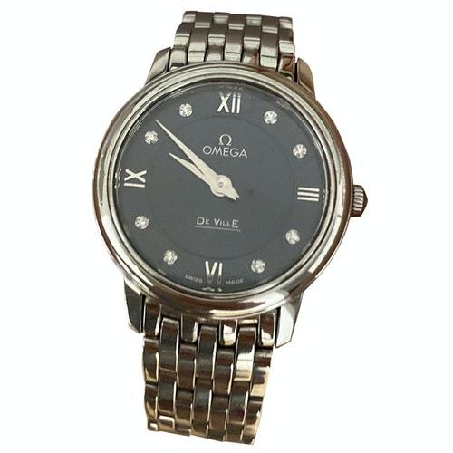 Pre-owned Omega De Ville  Silver Steel Watch