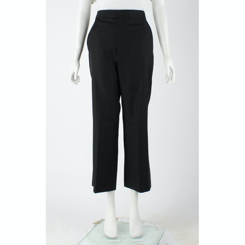 Pre-owned Celine Black Cotton Trousers
