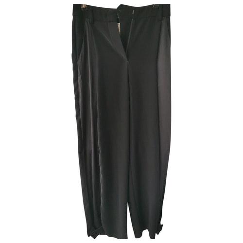 Pre-owned Giorgio Armani Black Silk Trousers