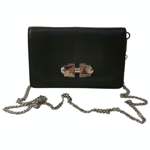 Pre-owned Carven Black Leather Clutch Bag