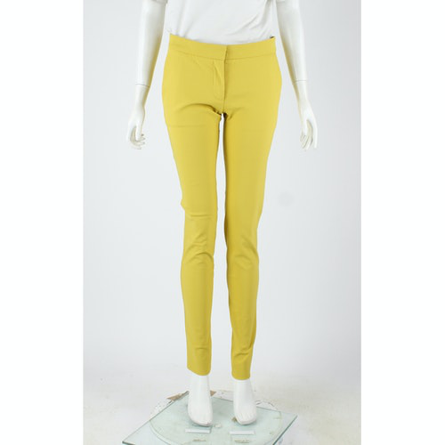 Pre-owned Stella Mccartney Yellow Cotton Trousers