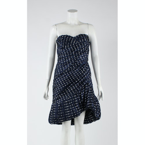 Pre-owned Tory Burch Navy Silk Dress