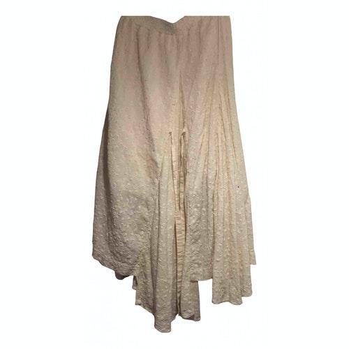 Pre-owned Renli Su Beige Cotton Skirt