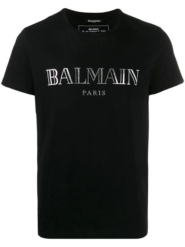 Balmain T-shirt In Black Cotton In 0pa
