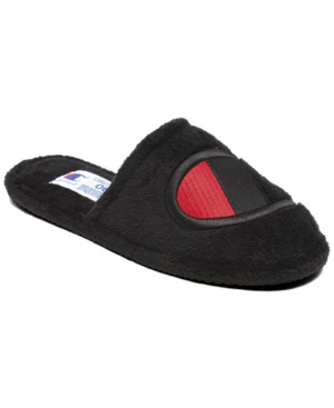 Champion Women's The Sleepover Slippers From Finish Line In Black, Scarlet