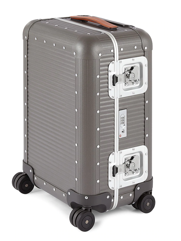 Fpm 53 Bank Cabin Spinner Carry-on Suitcase In Steel Grey