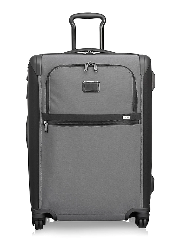 Tumi Alpha Expandable 4 Wheeled Short Trip Packing Suitcase In Gray