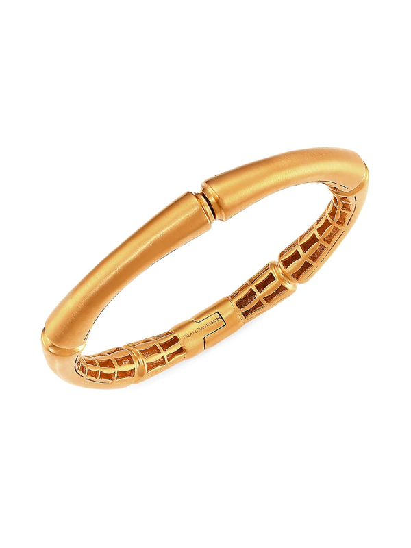 Dean Davidson Women's Bamboo Motif Hinged Bangle In Gold