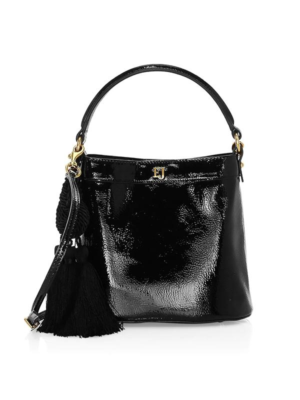 Eric Javits Women's Digit Patent Bucket Bag In Black