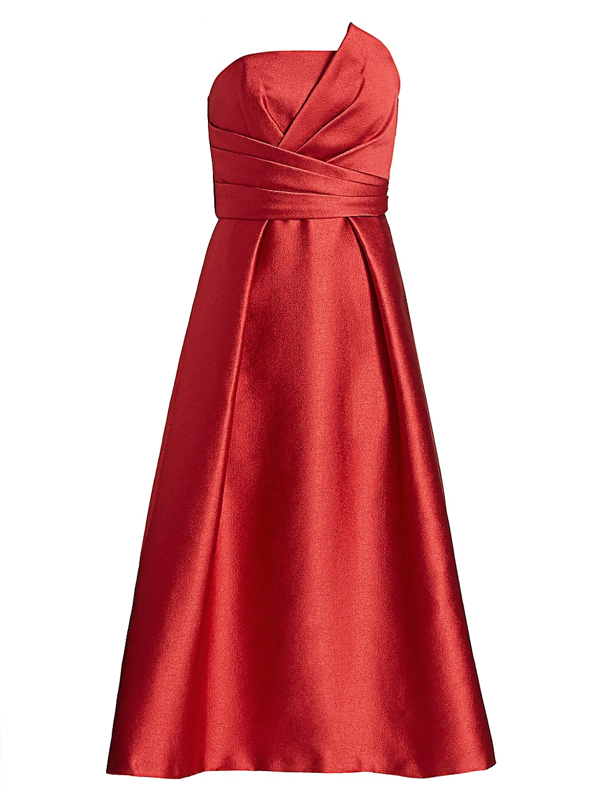 Theia Women's Strapless Fit-&-flare Dress In Red
