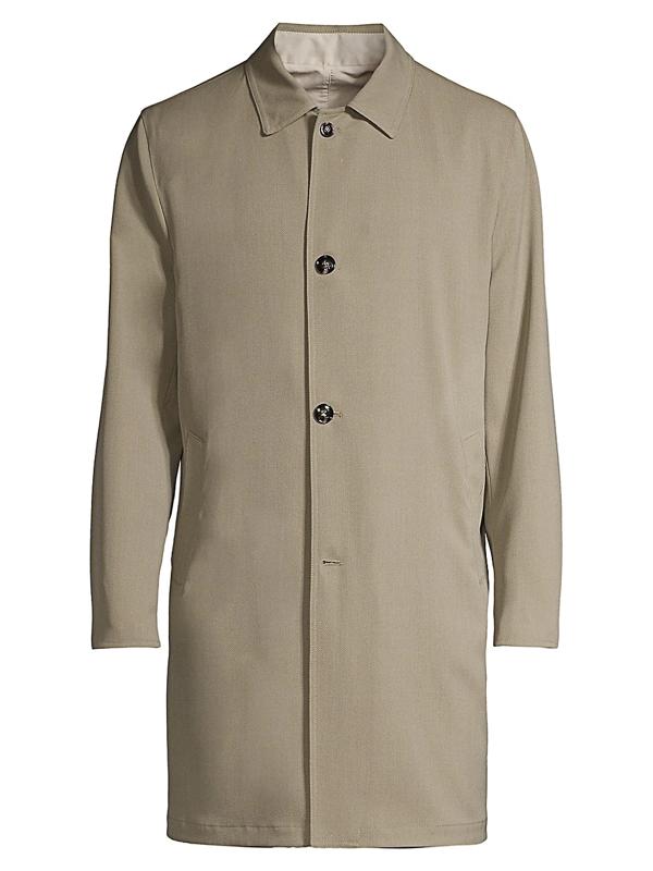 Kiton Men's Trench Coat In Tan