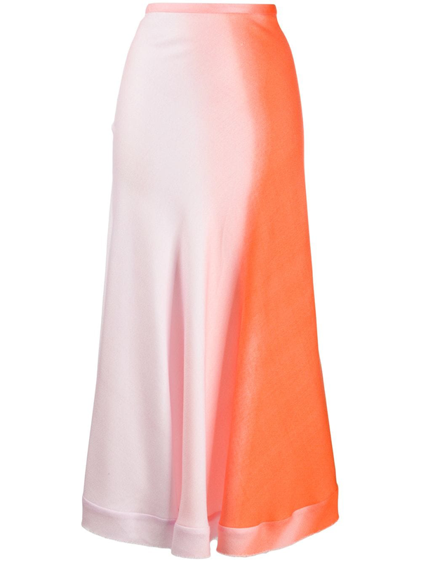 Maggie Marilyn Women's Feeling Fruity Ombré A-line Midi Skirt In Orange