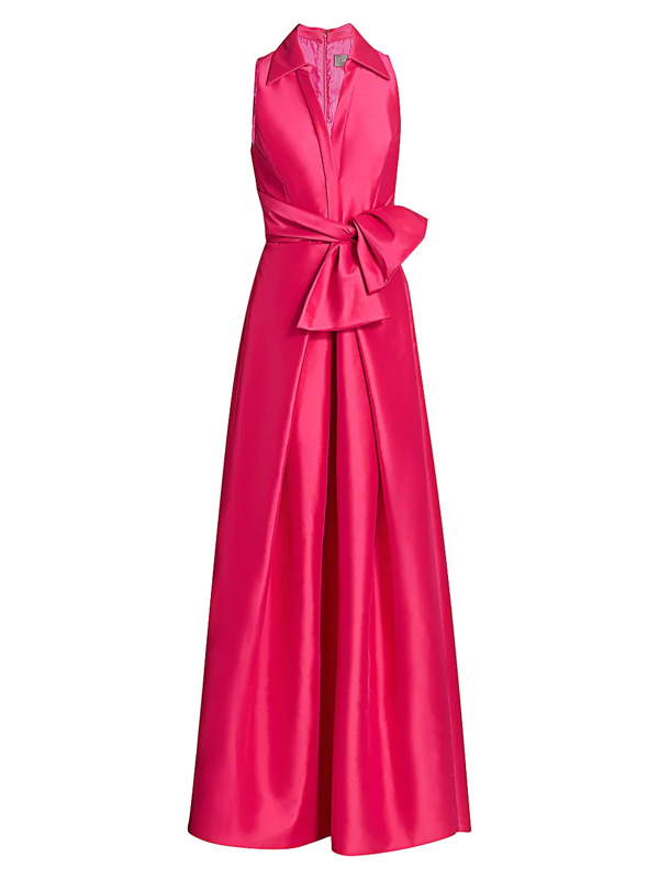 Theia Women's Zibeline Shirt Ball Gown In Fuchsia