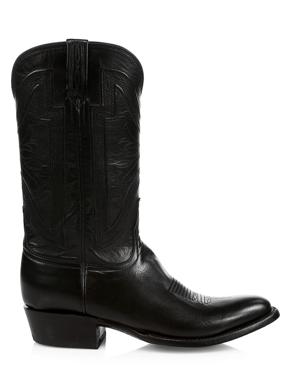 Lucchese Men's Collins Western Leather Boots In Black