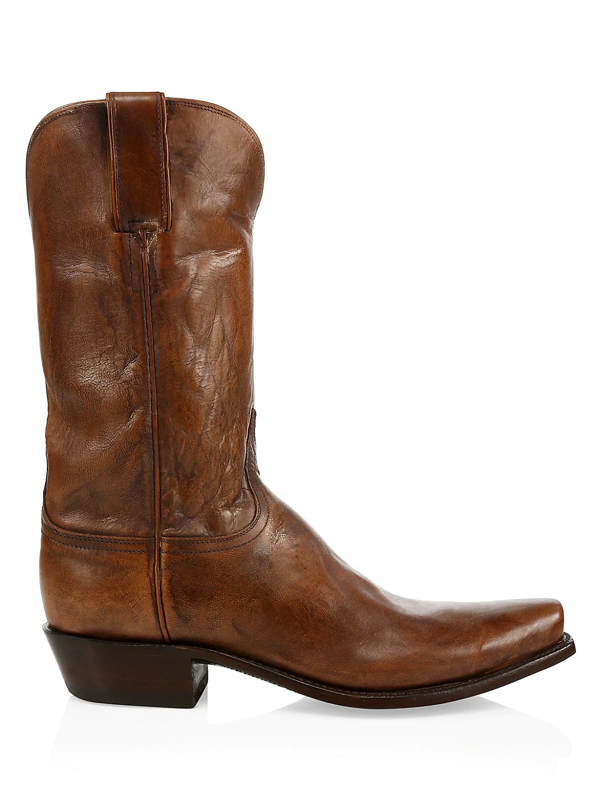 Lucchese Men's Leadville Western Leather Boots In Stone Washed