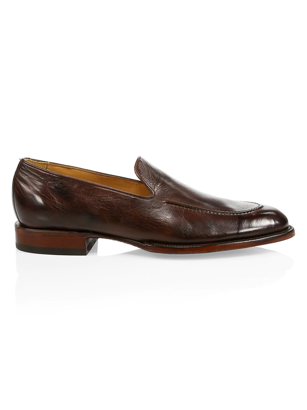 Lucchese Men's Regis Leather Penny Loafers In Whiskey