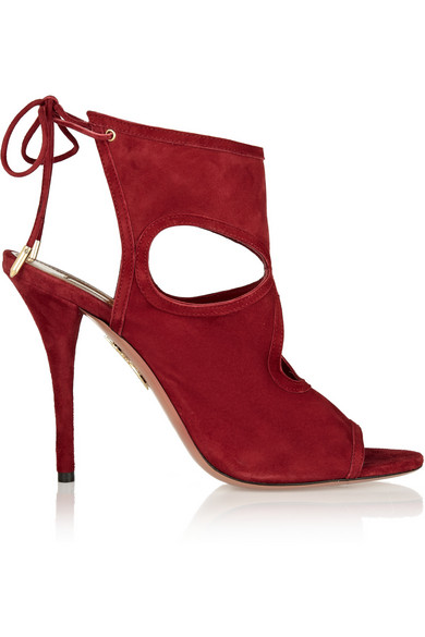Aquazzura 'Sexy Thing' Sandals In Red Suede