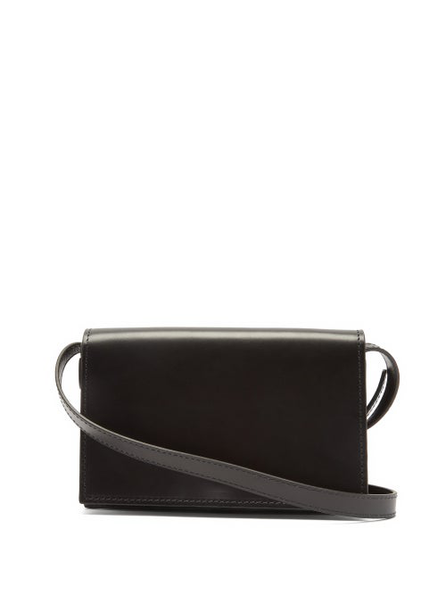 Lemaire Satchel Mini Leather Cross-body Bag In Black