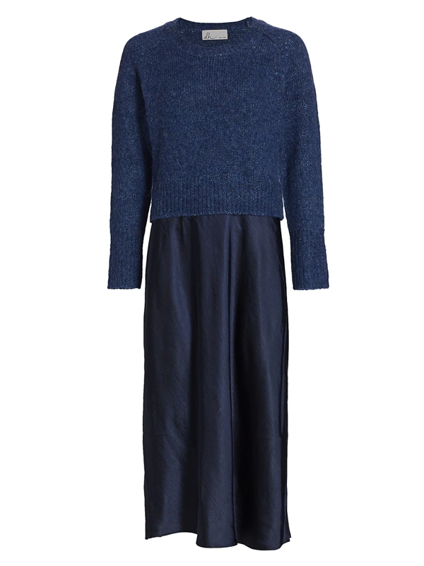 Dh New York Women's Lily Long-sleeve Sweater Dress In Midnight
