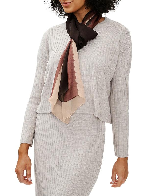 Eileen Fisher Women's Tonal Silk Scarf In Brownstone