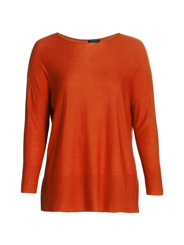 Marina Rinaldi Women's Ambra Virgin Wool-blend Tunic In Rust