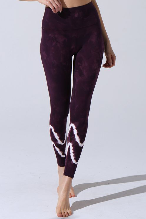 Electric & Rose Sunset Legging - Aubergine/cloud In Purple