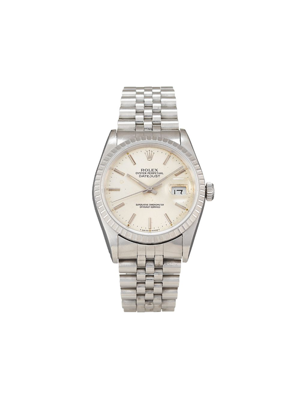 Pre-owned Rolex 1990  Datejust 36mm In Silver