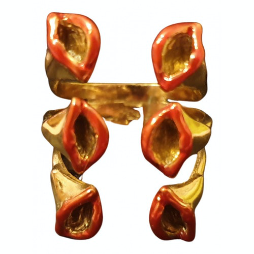 Pre-owned Bernard Delettrez Gold Metal Ring