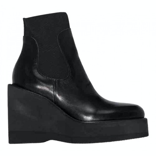 Pre-owned Sacai Black Ankle Boots