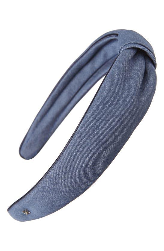 Alexandre De Paris Denim Knot Headband
