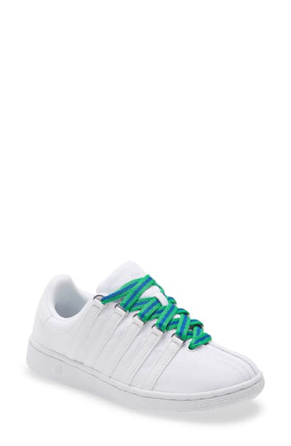 K-swiss X Girl Scouts Low Top Sneaker In White/ White/ Silver