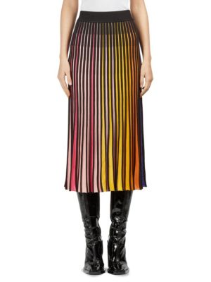 6ac997d1b Kenzo Multicolor Rib Knit Colorblock Midi Skirt | ModeSens