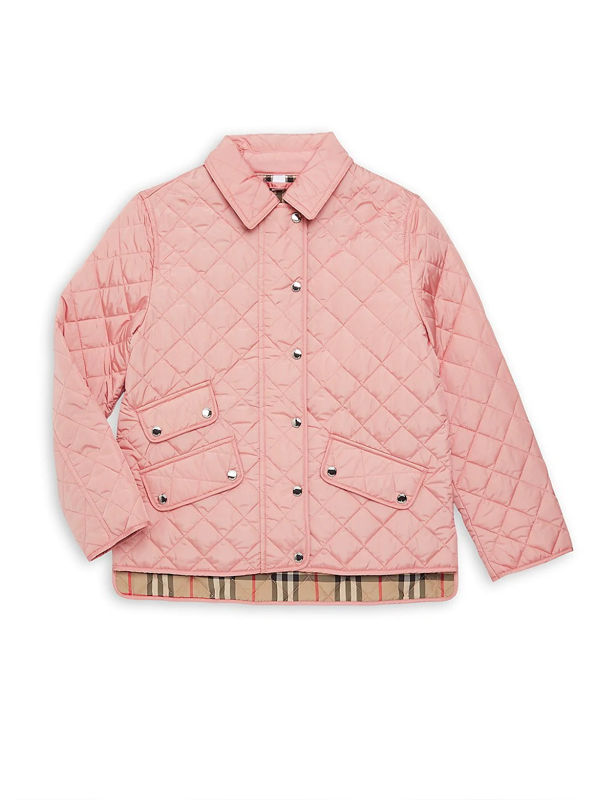 Burberry Kids' Little Girl's & Girl's Brennan Quilted Jacket In Dusty Pink